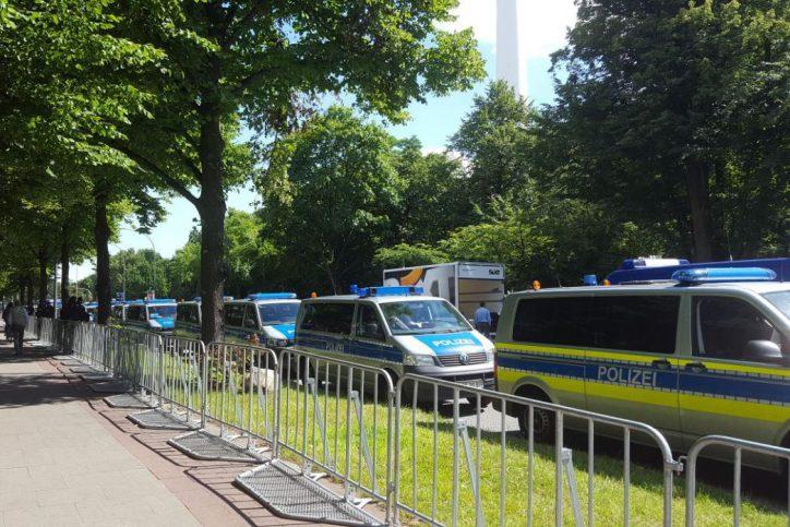 Polizei, Polizeiwagen, Schröderstift, G20, Schröderstiftstraße