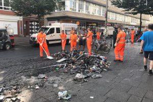 Schanze, Gewalt, Müll, G20, Demonstration