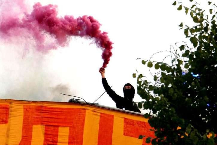 Rote Flora, Demorave, Demonstration, G20, G20-Gipfel, Schanze, Pyro, Protest