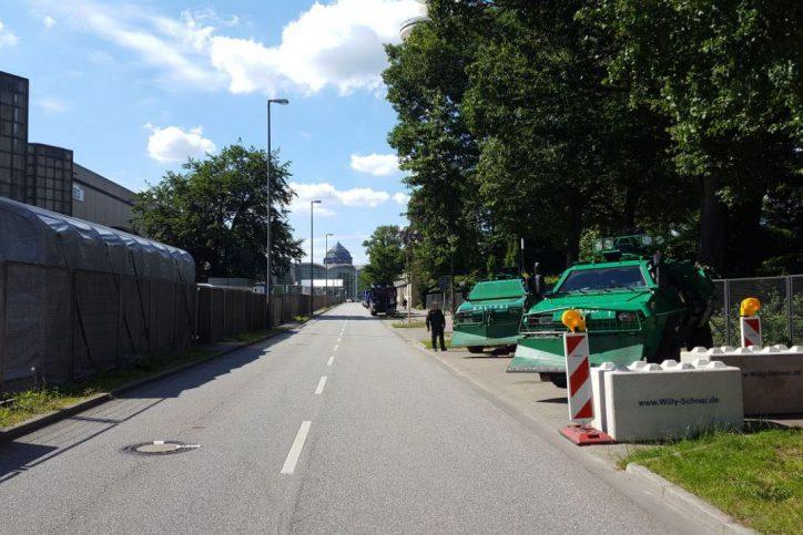 Sicherheitszone, Messehallen, Messe Hamburg, Polizei