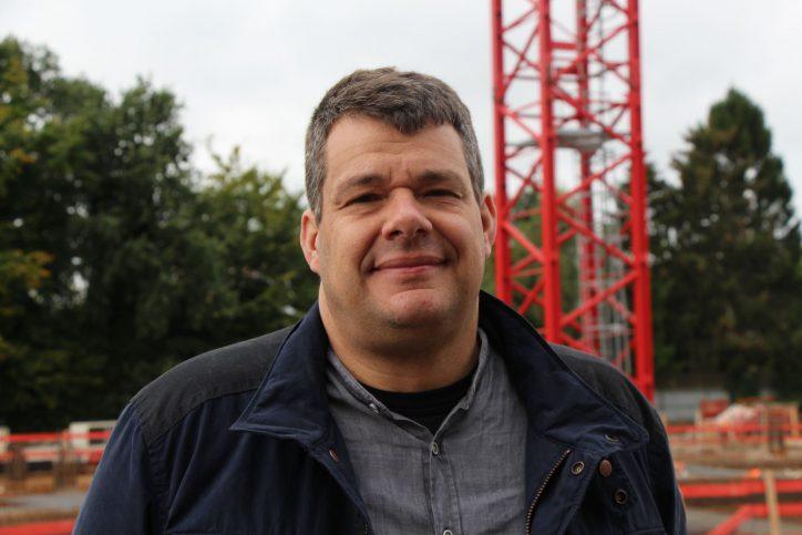 Dachdecker Matthias Alms ist einer der ersten Mieter der Meistermeile. Foto: Phillip Holländer