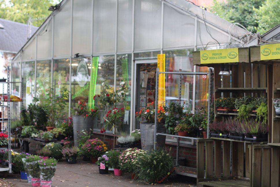 Der Eingang zum Verkaufsraum der Gärtnerei. Was mit dem Grundstück passiert ist bisher ungewiss. Foto: Phillip Holländer