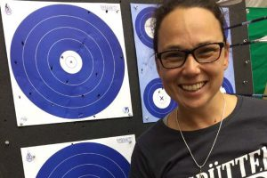 Karen Nakumura: ETV Bogenschießen Weltmeisterin Halle internationaler Feldbogenverband IFFA Jagdbogen