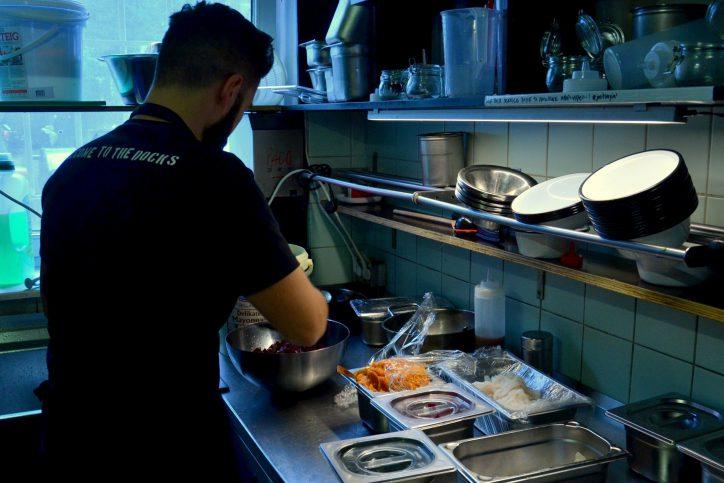 Das Cook-Up Restaurant bewirtet zur Zeit ein Gastro-Start Up. Foto: Olivera Zivkovic