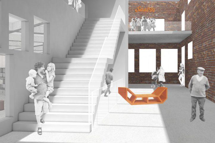 So könnte das Bürgerhaus später aussehen. Quelle: Bezirksamt Eimsbüttel