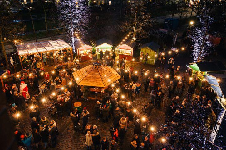 Weihnachtsmarkt Apostelkirche Hamburg Eimsbüttel. Foto: Weihnachtsmarkt Apostelkirche