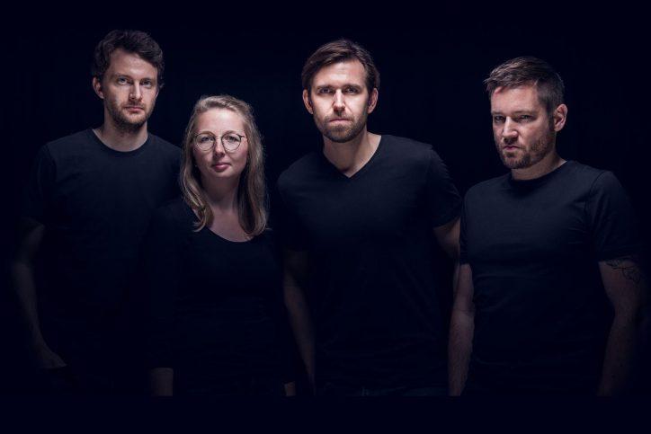 Christoph (Drums), Lena (Bass), Martin (Sänger), Christopher (Gitarre). Foto: Tobias Habermann