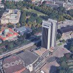 Radisson Blu, Uni-Hauptgebäude und der Dammtorbahnhof. Quelle: Bilder © 2017 Google, Kartendaten © GeoBasis-DE/BKG (©2009), Google