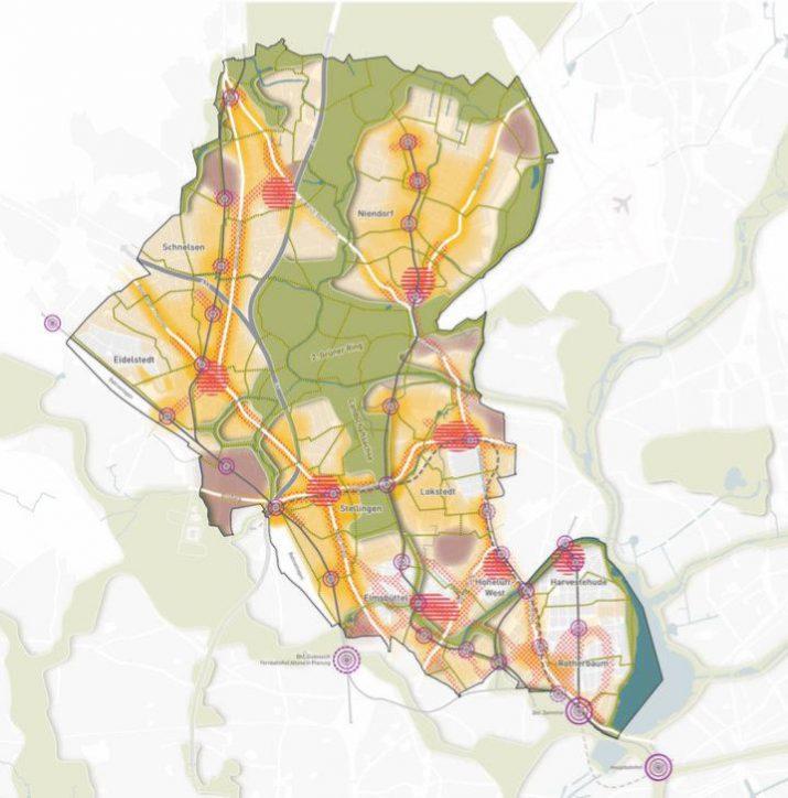 Entwicklungskonzept Eimsbüttel 2040 - Leitbild. Quelle: Bezirksamt Eimsbüttel