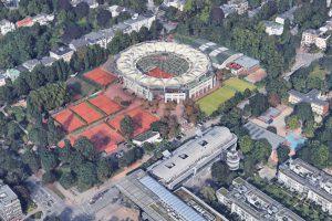 Das Tennis-Stadion am Rothenbaum. Quelle: Bilder © 2017 Google, Kartendaten © GeoBasis-DE/BKG (©2009), Google