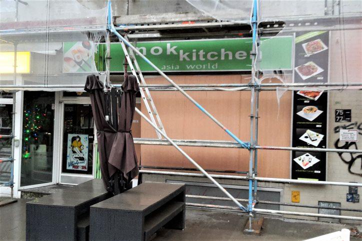 Explosion nach Fettbrand im Asia-Imbiss Mok Kitchen in der Osterstraße. Foto: Jan Hildebrandt