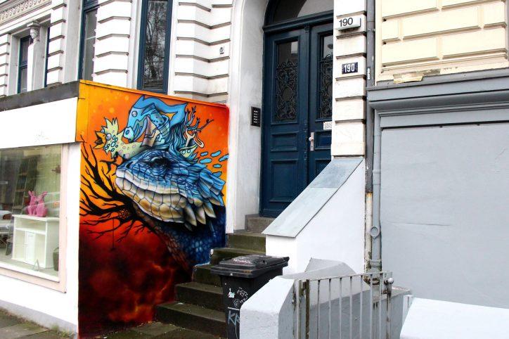 Graffiti in der Max-Brauer-Allee 190. Foto: Vanessa Leitschuh