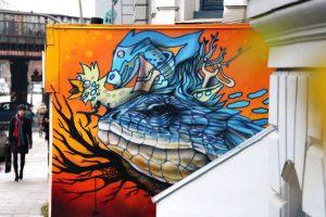 Neues Graffiti in der Max-Brauer-Allee 190. Foto: Vanessa Leitschuh