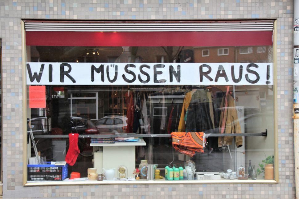 Der Gebrauchtwarenladen Genbrug am Schulterblatt steht kurz vor der Räumung. Foto: Vanessa Leitschuh