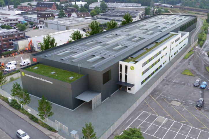 Instandhaltungswerk S-Bahn Stellingen. Foto: Quadra Ingenieure GmbH