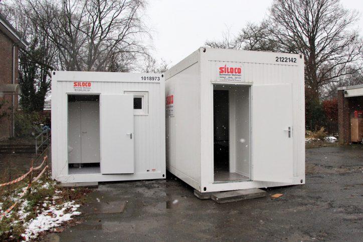 Winterwohncontainer für einen Obdachlosen in Lokstedt. Foto: Vanessa Leitschuh