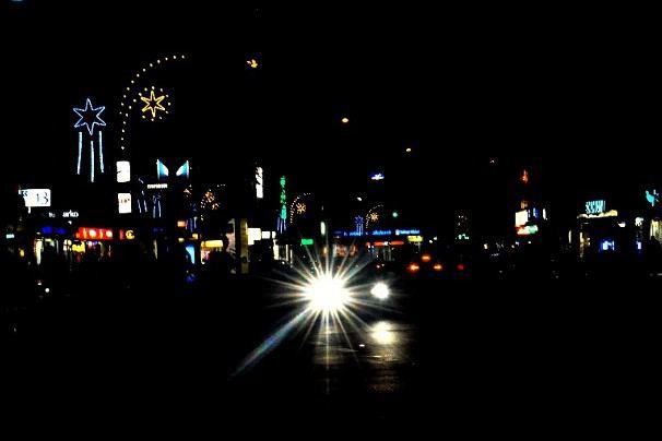 Dunkle Weihnachtszeit in der Osterstraße