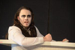 "Michael Eberle als Hamm in Samuel Becketts ""Endspiel"". Foto: Kalliope Universitätstheater e.V."