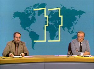 Die erste Sendung der Tagesthemen 1978. Foto: NDR
