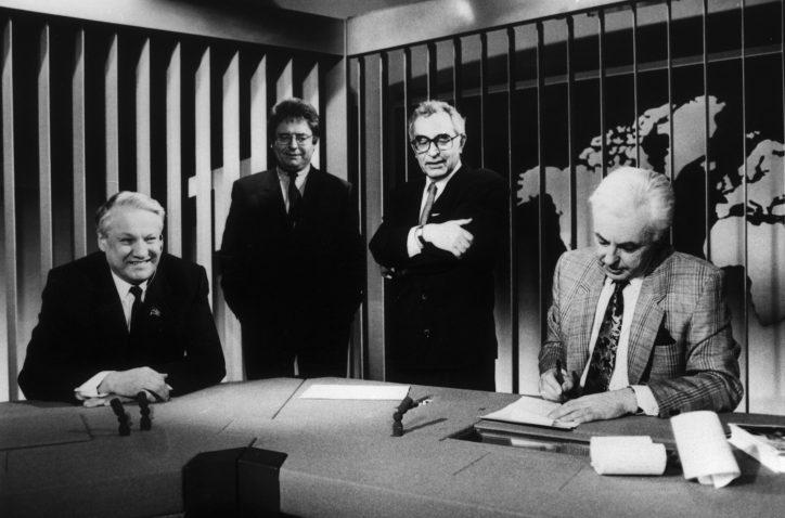 Boris Jelzin zu Gast bei den Tagesthemen. Foto: NDR / Röhrbein