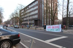 Hamburg Eimsbuettel Demo Radentscheid. Foto: Monika Dzialas