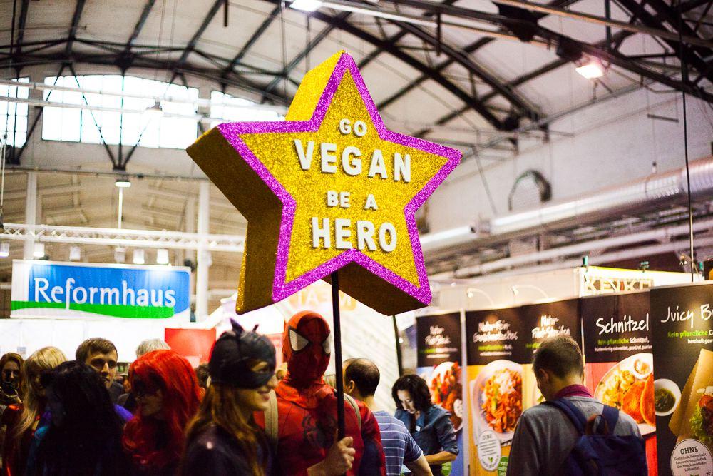 Die Messe VeggieWorld in der Messehalle Hamburg Schnelsen dreht sich rund ums Thema Vegan. Foto: VeggieWorld