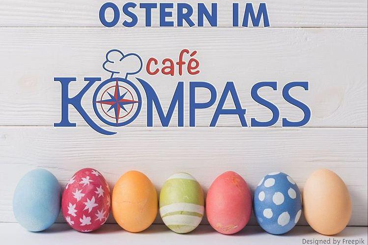 Das Angebot im Café Kompass: Ostereiersuchen und Brunch. Foto: Café Kompass