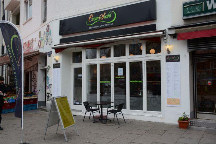 """Seit dem 22.1.2015 gibt es ein neues Restaurant mit Cocktailbar in Eimsbüttel. """"Cross Sushi"""" befindet sich am Hellkamp 22/Ecke Osterstraße. Foto: Cross Sushi."""