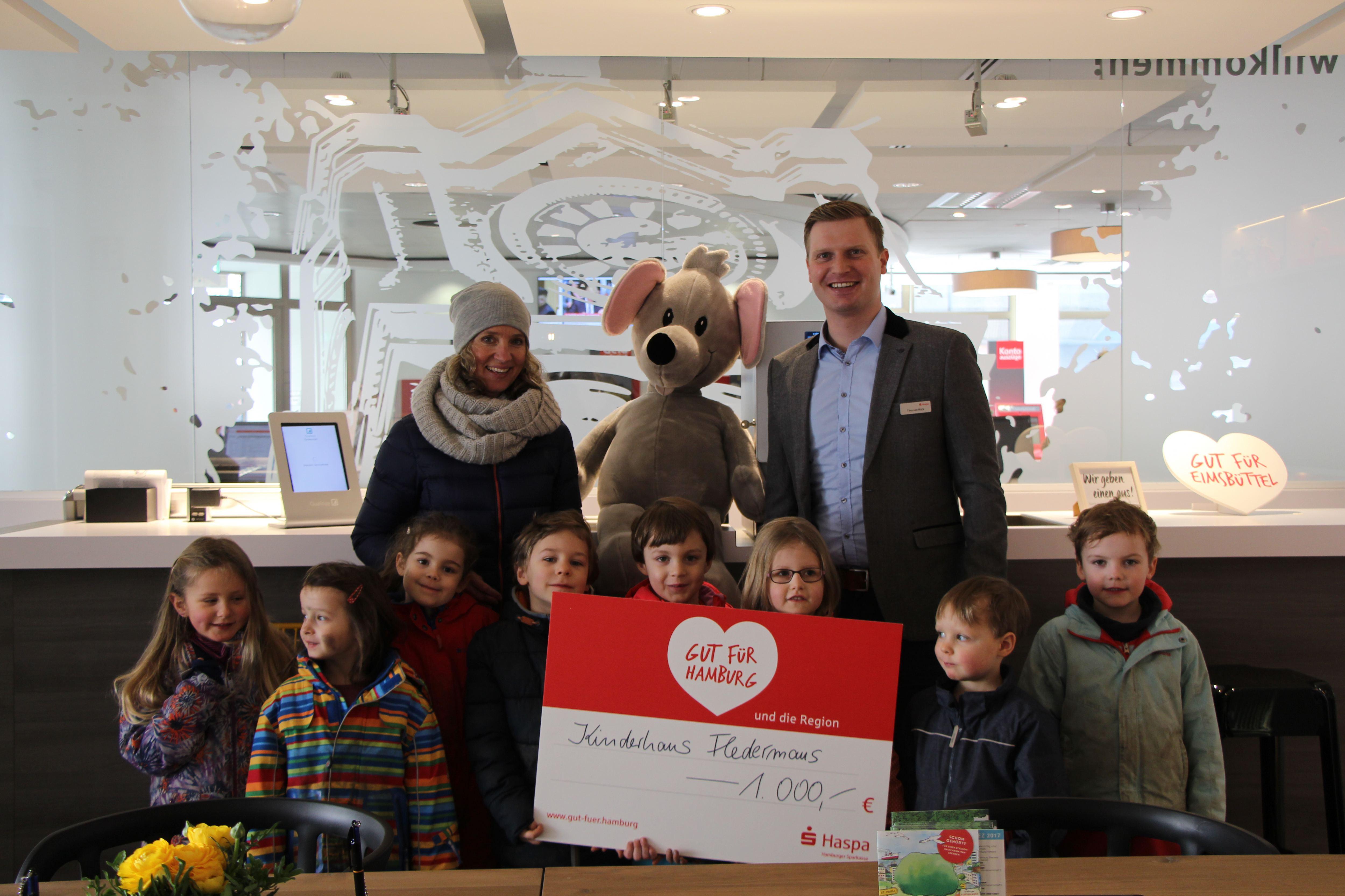 Kinderhaus Fledermaus gewinnt Haspa-Preis