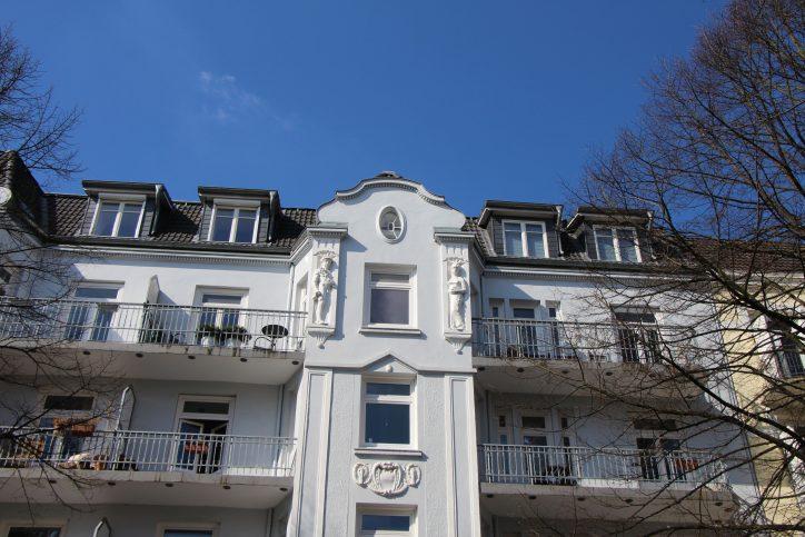 Eine schöne Hausfassade am Hellkamp. Foto: Vanessa Leitschuh