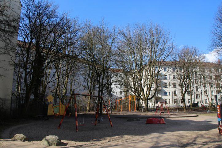 Spielplatz am Hellkamp nahe der Lutterothstraße. Foto: Vanessa Leitschuh