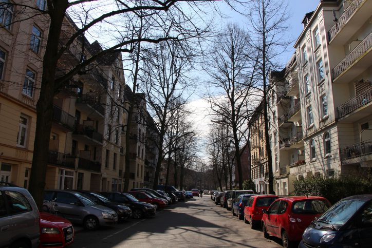 Straßenansicht Hellkamp. Foto: Vanessa Leitschuh