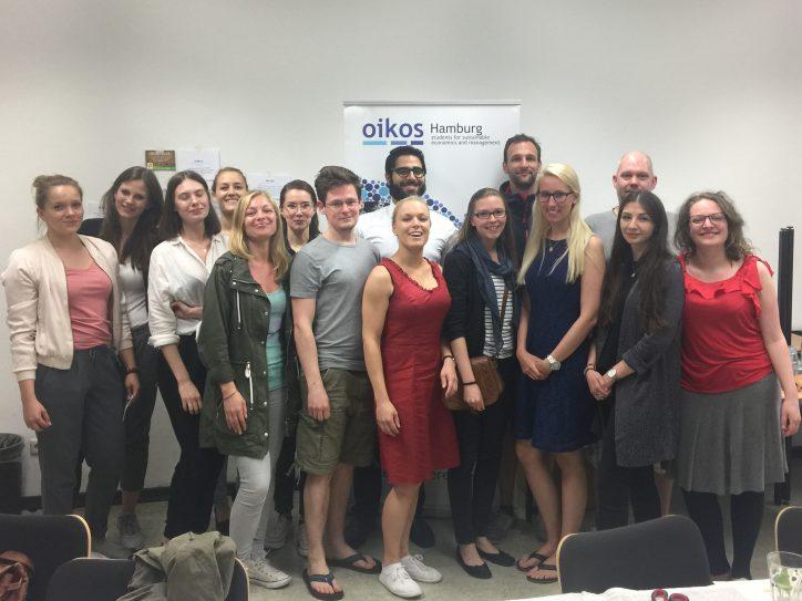 Die Mitglieder der Studentenorganisation oikos Hamburg e.V.