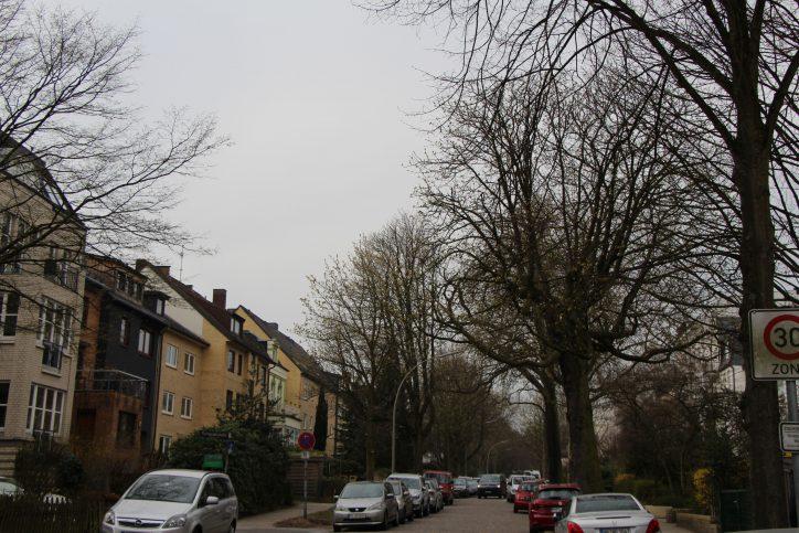 EIn Blick vom Doormansweg in die Tornquiststraße. Foto: Robin Eberhardt