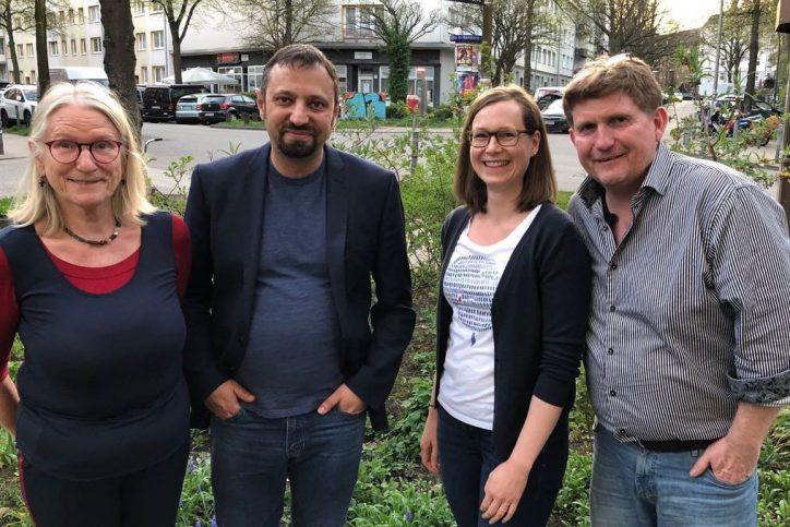 Der neue und alte Fraktionsvorstand der Gürnen-Fraktion in der bezirksversammlung. Foto: Cornelia Kost