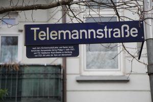Die Telemannstraße. Foto: Robin Eberhardt