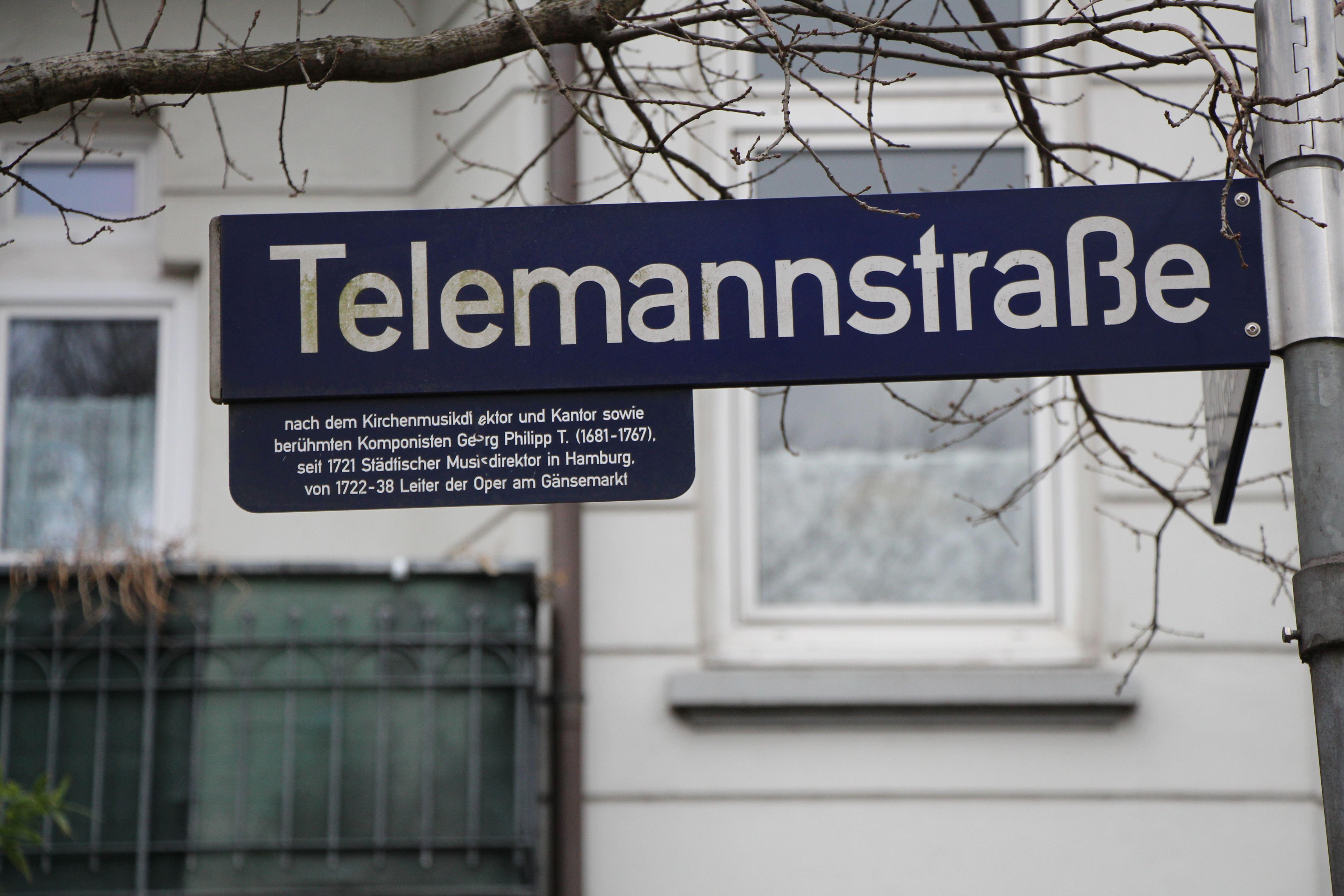 Straßennamen in Eimsbüttel: Telemannstraße