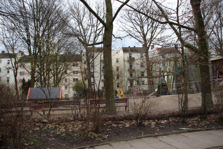Der Spielplatz in der Telemannstraße. Foto: Robin Eberhardt