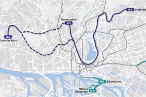 Die U5 soll eventuell über den Siemersplatz nach Lokstedt führen. Quelle: HVV