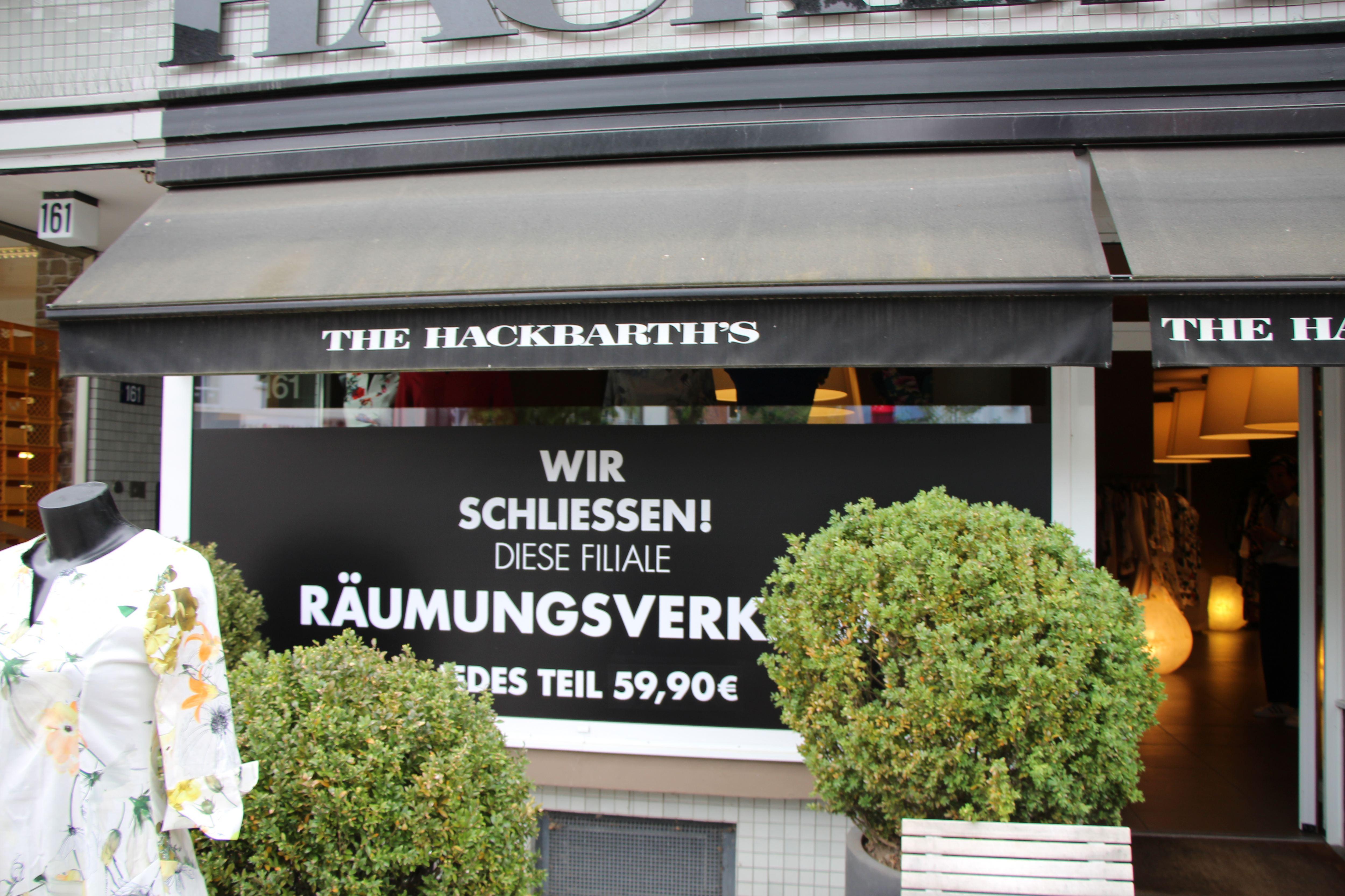 Aus für die Hackbarth's Filiale an der Osterstraße