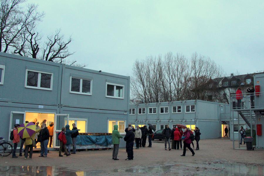 Die Erstaufnahme in der Vogt-Kölln-Straße wird im Mai geschlossen. Foto: Fabian Hennig
