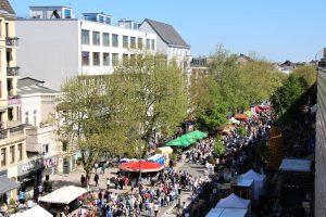 Das Osterstraßenfest 2018 von oben. Foto: Vanessa Leitschuh