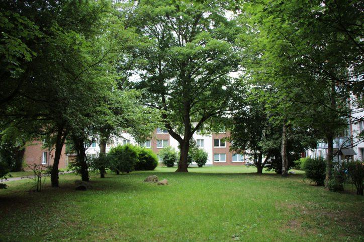 Steht hier schon bald ein Wohnhaus? Die SAGA plant ihr Grundstück an der Lappenbergsallee nachzuverdichten. Foto: Max Gilbert