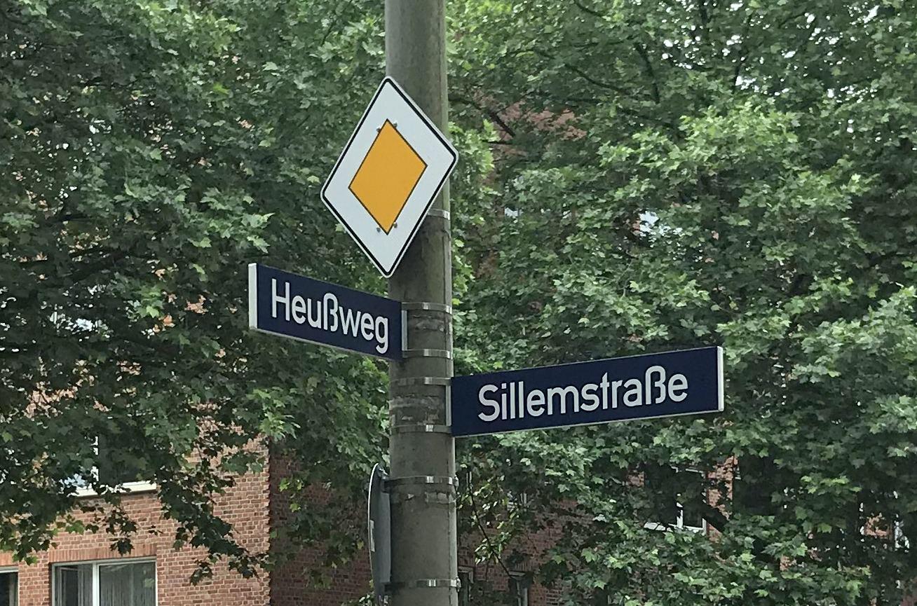 Neuer Kreisverkehr am Heußweg