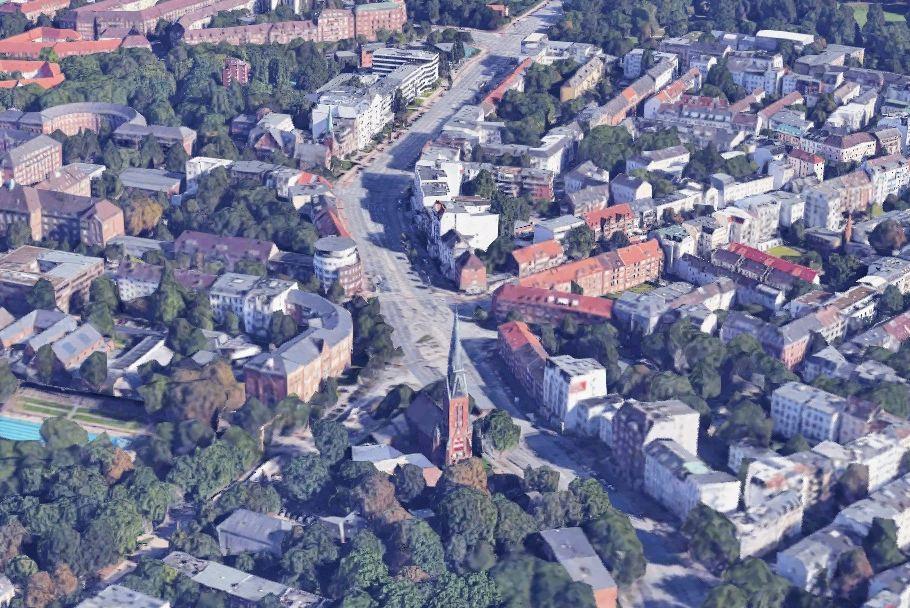 Die Bauarbeiten an der Kreuzung von Fruchtallee und Weidenallee sollen bis Ende Oktober andauern. Foto: Google
