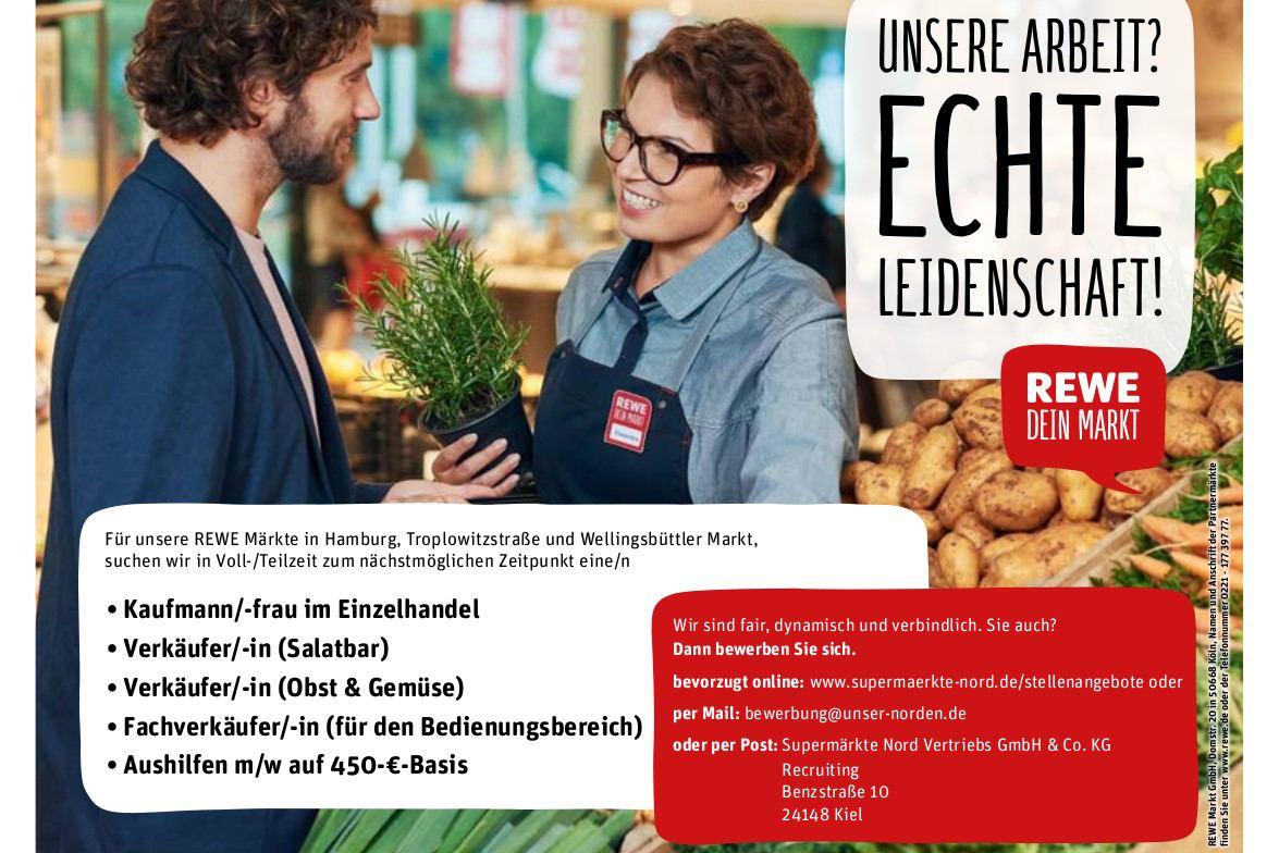 Stellenangebote REWE Märkte Troplowitzstraße und Wellingsbüttler Markt -  Eimsbütteler Nachrichten