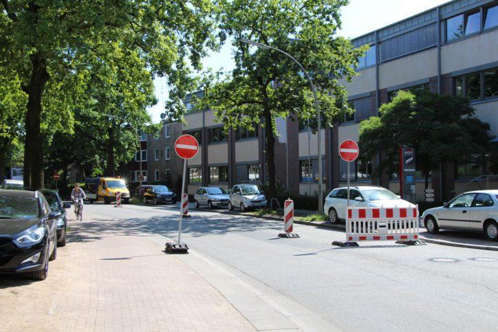 Stresemannallee Baustelle. Foto: Robin Eberhardt