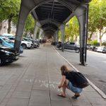 Auch in der Isestraße wurde die Botschaft auf die Straße gemalt. Foto: Privat
