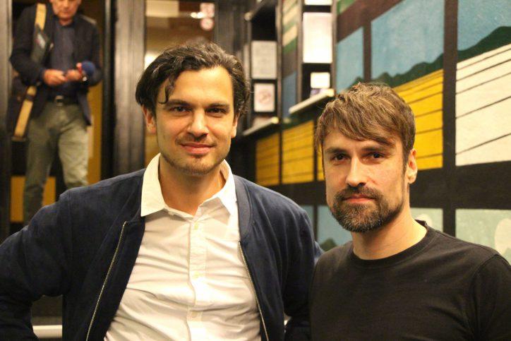 Julian Amershi und Martin Rieck nach der Filmvorführung. Foto: Robin Eberhardt