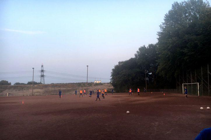 Der Sportplatz am Steinwiesenweg, auf dem der HFC Falke trainiert, ist wegen fehlender Beleuchtung nur bedingt Wintertauglich. Foto: HFC Falke
